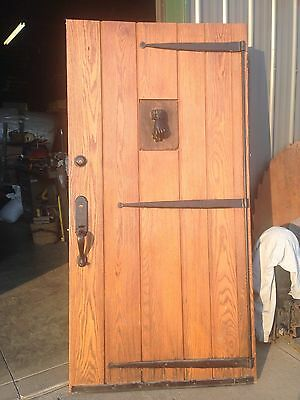 Heavy 42 Inch Oak Dungeon Entrance Door