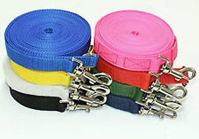 1 , 2.5 ,5 , 10, 15, 25 meters Long Dog & Horse Training Lunge Webbing Lead