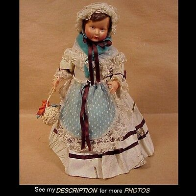 Antique 1920-30s France Petitcollin Celluloid Bottle / Bed Doll Eagle Mark