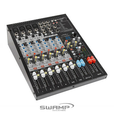 SWAMP S8-MK2 8 CH Mixing Desk - 4 Preamps - 2 AUX - Onboard FX - USB Audio