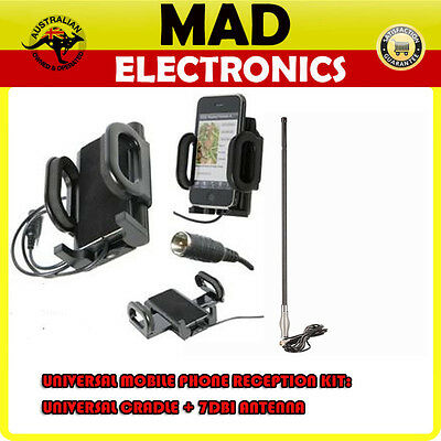Universal Mobile Phone Cradle & 3G/4G Signal Reception Booster Antenna 5m cable