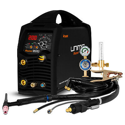 UNIMIG RAZOR DIGITAL PULSE AC/DC 200 Amp - Inverter TIG / ARC Welder 240V ACDC