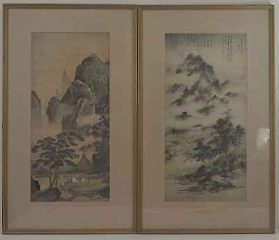 Ming and Yuan Dynasty paintings: Pair of framed prints