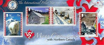 Isle of Man-Canada connections min sheet mnh-wildlife