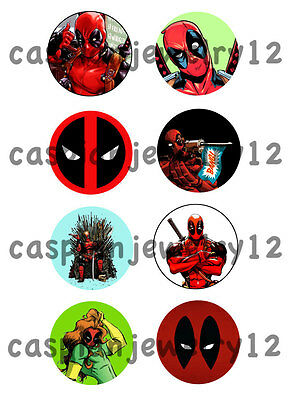8 piece lot of Deadpool pins buttons badges