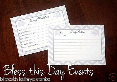 Baby Shower Game - Double-Sided Prediction & Advice Cards - GENERIC - 24 Guests