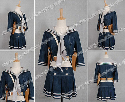 Sucker Punch Cosplay Emily Browning's Babydoll Costume Denim skirt Well Made New