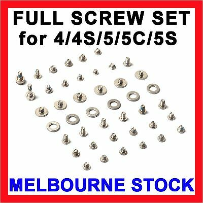 Full Screw Original Screws Repair Set + Tool Kit for Apple iPhone 4 4S 5 5C 5S