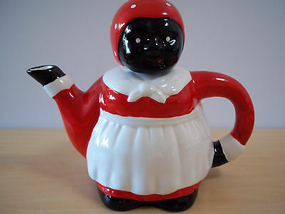 Vintage Black Americana Housemaid Ceramic Tea Pot Aunt Jemima