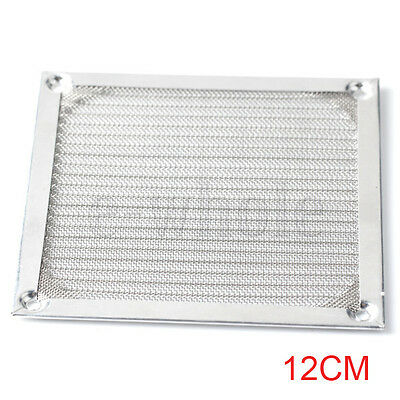 12CM PC Computer Fan Cooling Dustproof Dust Filter Case Aluminum Grill Guard NEW