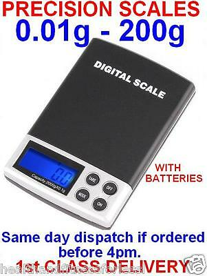 Digital Pocket Mini Precision Gold Weighing Scales 0.01g -200g
