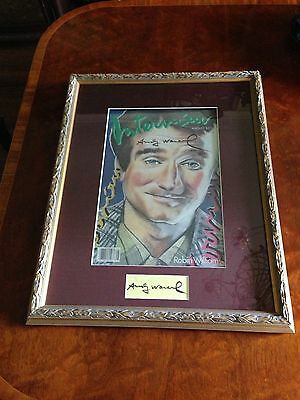 "Signed by Andy Warhol ""One of a kind"" Personally Signed Warhol  Robin Williams"