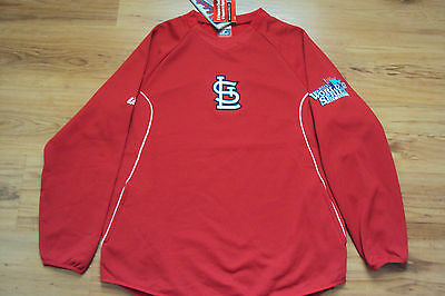 ST. LOUIS CARDINALS NEW MLB MAJESTIC AUTHENTIC 2013 WORLD SERIES TECH FLEECE