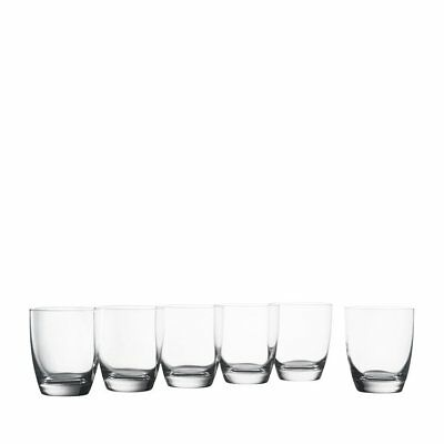 NEW Krosno Vinoteca Double Old Fashioned Glass Set of 6 (RRP $40)