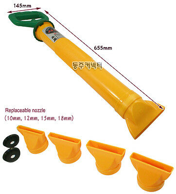 Patio Paving Brick Grout Pointing Mortar Gun Grouting Applicator Tool 4 Nozzles