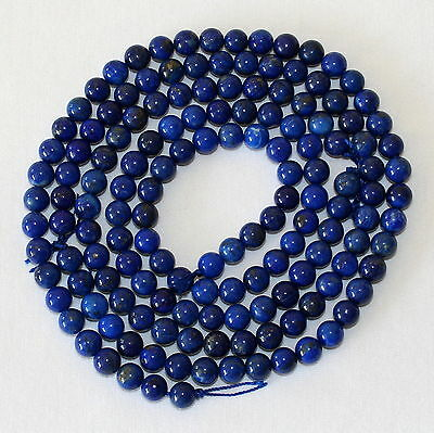 Lapis Lazuli 8mm Beads Natural Undyed Lapis 40cm Strand 8 mm Beads Strands