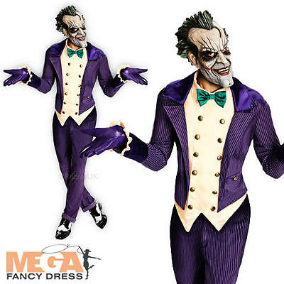 Deluxe The Joker Halloween Mens Batman Fancy Dress Adult Costume Outfit + Mask