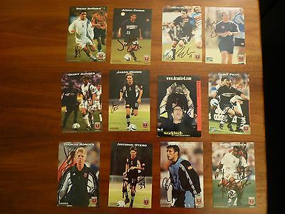 12 DC United Autographed Players/Coaches Cards from 1998 & 1999 Seasons