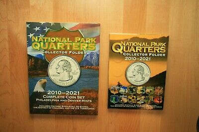 2010 - 2019 128 Quarter National Park PDS Uncirculated Set Housed in Two Folders