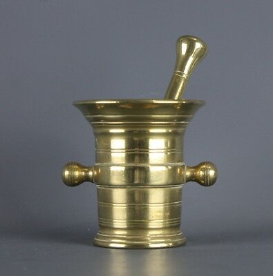 Antique French Brass Mortar and Pestle Apottheary
