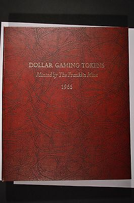1966 Franklin Mint One Dollar Gaming Token Proof-Like Set of 72 $1