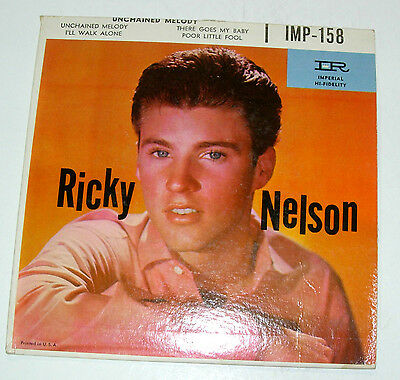 RICKY NELSON, Unchained Melody, Poor Little Fool  +2   45rpm EP