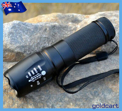 2000Lm Super Bright CREE XM-L T6 LED Zoomable Flashlight Torch 26650/18650/3*AAA
