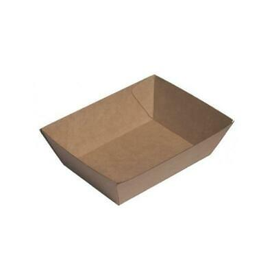 50x Cardboard Tray 1, 130x91x47mm, Beta Board Natural Look, Food, Chips, Markets