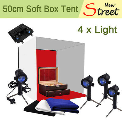 Photography 50cm Tent Cube Softbox Light Box Lighting Backdrops Photo Studio Kit