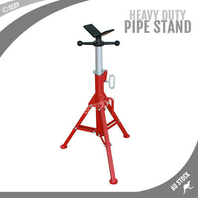 NEW Folding Jack Stand Heavy Duty V Head Pipe Stand Adjustable Height 1.25 Ton