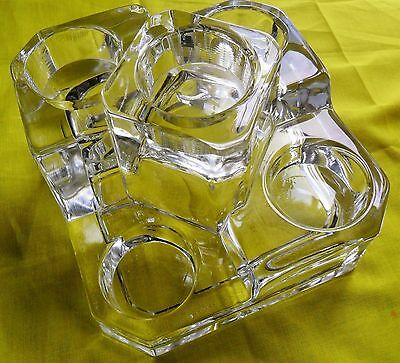 PARTYLITE CRYSTAL CANDLE HOLDER CASTLE HOLD 5 TEALIGHT (GERMANY)