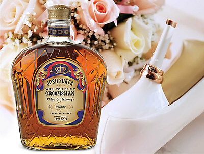 Personalized Crown Royal Whisky Labels, Stickers For All Occasions