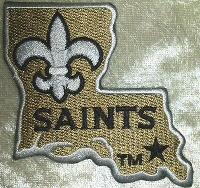 "New Orleans Saints  3"" LA Iron On Embroidered Patch ~USA Seller~FREE Ship"