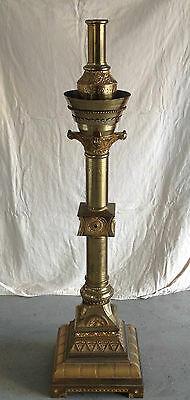 FABULOUS Cathedral-Size Antigue BRASS Metal CANDLE HOLDER--UNIQUE!! FABULOUS!