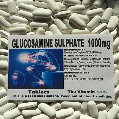 GLUCOSAMINE SULPHATE 2KCL 1000mg  365 TABLETS      FREE UK P&P      (L)