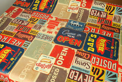 New American Diner Vinyl Wipe Clean Pvc Tablecloth