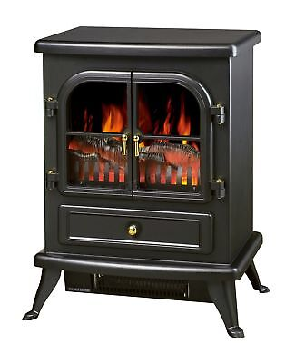 Log Burning Flame Effect 1850W Electric Fire Heater Fireplace Stove Fan New