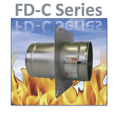 125mm INLINE DUCT MOUNTED RESETTABLE  FIRE & VOLUME CONTROL DAMPER VENTILATION