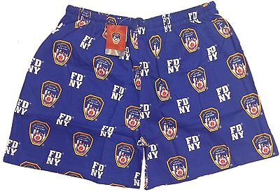 FDNY Boxer Shorts Officially Licensed New York Pajama Mens Police Gifts Products