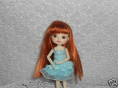 """Monique Gold  """"Yvette""""Wig  3.25"""" Carrot Red fits  Amelia Thimble"""