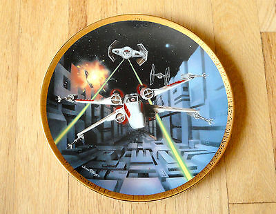 1995 Star Wars Hamilton Collection Red 5 X Wing Fighter Space Vehicle Plate