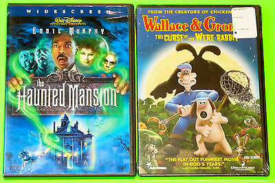 Kid Halloween DVD Lot - Disney The Haunted Mansion (Used) Were-Rabbit (New)