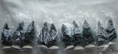 Lot of 10 Christmas Bottle brush Trees.  2.5 inches.  Sisal Trees.  NIP