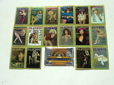 PLAYBOY CHROMIUM COVERS 1995 EDITION 2 (100) CARD BASE SET ONLY $18 PER SET!!!