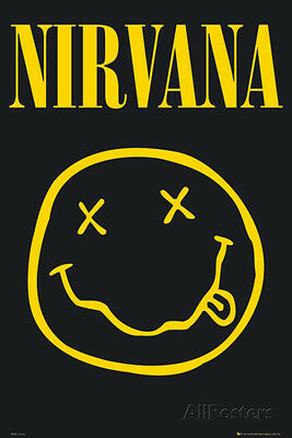 NIRVANA - Smiley Poster Print 24x36 Rock & Pop Music