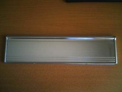 Stormguard Chrome interior letterbox draught excluder with metal sprung flap