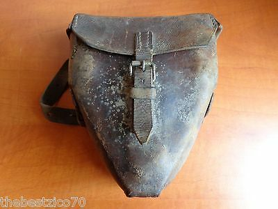 VINTAGE RARE WWI WWII GERMAN MAXIM MG-08 Z.F. 12 SIGHT SCOPE LEATHER POUCH CASE