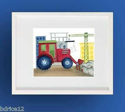 Busy Builder Construction Zone Truck Boy Car Art In Pottery Barn Kids Frame