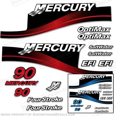 Mercury 90hp Outboard Decal Kit Blue or Red 90 1999-2004 - All Models Available