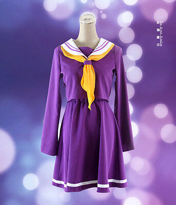 NO GAME NO LIFE Shiro School Uniforms Cosplay Costume Dress cosplay clothes
